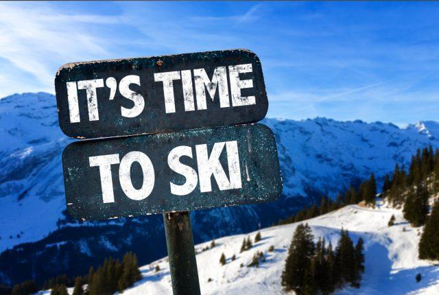 time-ski-sign-sky-background 2